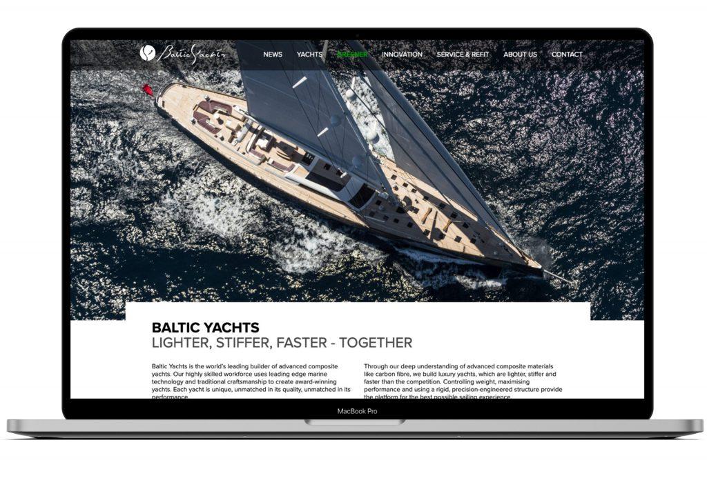 Baltic Yachts -verkkosivusto